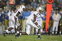1 October 2006: Richard Sherman and Austin Yancy during Stanford's 31-0 loss to UCLA at the Rose Bowl in Pasadena, CA.