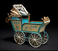 BNPS.co.uk (01202 558833)<br /> Pic: Bonhams/BNPS<br /> <br /> ***Please Use Full Byline***<br /> <br /> Large Marklin Tinplate Pram. <br /> <br /> <br /> A creepy collection of almost 100 'lifelike' dolls modelled on children has emerged for sale with a whopping half a million pounds price tag. <br /> <br /> The eerie-looking toys were made in Germany in the early 20th century as dollmakers strived to produce dolls with realistic human features.<br /> <br /> The collection of 92 dolls, which includes some of the rarest ever made, has been pieced together by a European enthusiast over the past 30 years.<br /> <br /> It is expected to fetch upwards of &pound;500,000 when it goes under the hammer at London auction house Bonhams tomorrow (Weds).