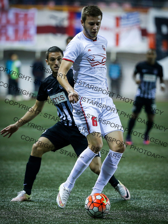 Fudbal Super League season 2016-2017<br /> Vozdovac v Partizan<br /> Todor Petrovic (R) and Miroslav Vulicevic<br /> Beograd, 10.15.2016.<br /> foto: Srdjan Stevanovic/Starsportphoto&copy;