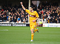MOTHERWELL'S JAMIE MURPHY CELEBRATES AFTER HE SCORES MOTHERWELL'S SECOND GOAL..07/01/2012 sct_jsp001_motherwell_v_queens_park     .Copyright  Pic : James Stewart.James Stewart Photography 19 Carronlea Drive, Falkirk. FK2 8DN      Vat Reg No. 607 6932 25.Telephone      : +44 (0)1324 570291 .Mobile              : +44 (0)7721 416997.E-mail  :  jim@jspa.co.uk.If you require further information then contact Jim Stewart on any of the numbers above.........