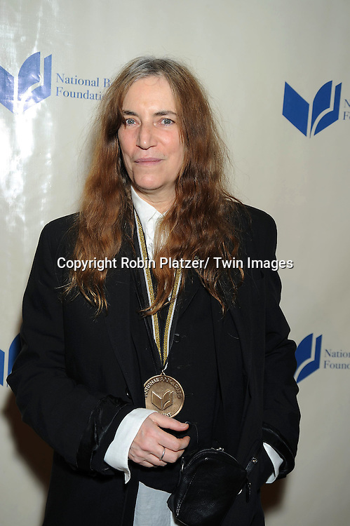 nominee and winner Patti Smith attending The 2010 National Book Awards on November 17, 2010 at Cipriani Wall Street in New York City.
