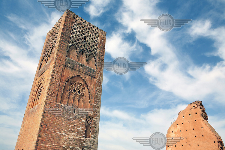 The incomplete minaret of the Hassan Mosque, dating back over 800 years, is an architectural milestone for the city of Rabat.