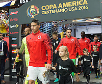 Glendale, AZ - Saturday June 25, 2016: James Rodriguez prior to a Copa America Centenario third place match match between United States (USA) and Colombia (COL) at University of Phoenix Stadium.