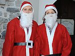 Clare and Gemma Fogarty who took part in the Santa Run at Scotch Hall. Photo: Colin Bell/pressphotos.ie