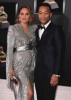 NEW YORK - JANUARY 28:  Chrissy Teigen and John Legend at the 60th Annual Grammy Awards at Madison Square Garden on January 28, 2018 in New York City. (Photo by Scott Kirkland/PictureGroup)