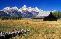 USA, Wyoming, Grand Teton National Park,Mormon Row, historical barn