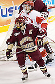 Kenny Roche, Peter Harrold - The Boston University Terriers defeated the Boston College Eagles 2-1 in overtime in the March 18, 2006 Hockey East Final at the TD Banknorth Garden in Boston, MA.