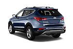 Car pictures of rear three quarter view of 2017 Hyundai Santa-Fe Sport 5 Door SUV Angular Rear
