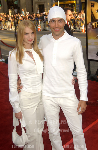 Actor JAMES HAVEN & girlfriend RACHEL at the world premiere of Lara Croft Tomb Raider: The Cradle of Life, at Grauman's Chinese Theatre, Hollywood..July 21, 2003