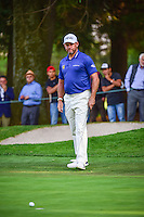 Lee Westwood (ENG) watches his par putt barely miss on 9  during round 1 of the World Golf Championships, Mexico, Club De Golf Chapultepec, Mexico City, Mexico. 3/2/2017.<br />
