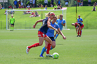 Boyds, MD - Sunday July 31, 2016: Megan Oyster, Leah Galton during a regular season National Women's Soccer League (NWSL) match between the Washington Spirit and Sky Blue FC at Maureen Hendricks Field, Maryland SoccerPlex. The Washington Spirit defeated Sky Blue FC 3-1.