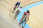Ng Siu Yin of team SCAA (r) competes during the Elimination Open Final Track Cycling Race 2016-17 Series 3 at the Hong Kong Velodrome on February 4, 2017 in Hong Kong, China. Photo by Marcio Rodrigo Machado / Power Sport Images