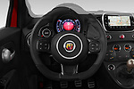 Car pictures of steering wheel view of a 2018 Abarth 595 C Competizione 2 Door Convertible