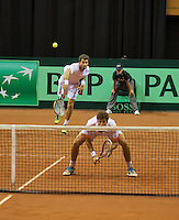 14-sept.-2013,Netherlands, Groningen,  Martini Plaza, Tennis, DavisCup Netherlands-Austria, Doubles,   Jean-Julien Rojer and Robin Haase(R) (NED)<br /> Photo: Henk Koster