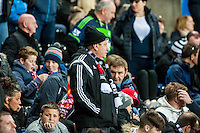 Swansea Fans during the Barclays Premier League match between Swansea City and West Ham United played at the Liberty Stadium, Swansea  on December 20th 2015
