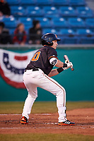 San Jose Giants first baseman Ryan Kirby (10) during a California League game against the Visalia Rawhide on April 12, 2019 at San Jose Municipal Stadium in San Jose, California. Visalia defeated San Jose 6-2. (Zachary Lucy/Four Seam Images)