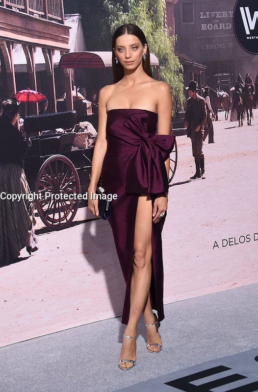 Angela Sarafyan @ the premiere of HBO new drama series 'Westworld' held @ the Chinese theatre. September 28, 2016