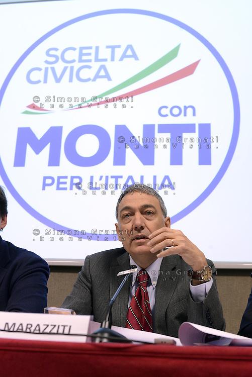 Roma, 29 Gennaio 2013.Presentazione candidati di.Scelta Civica con Monti per l'Italia.Mario Marazziti capolista Lazio 1