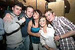 Kevin Fottrell, Connor Pendlbury, Laura O'Brien,  Rebecca O'Brien and Glen O'Malley at the St Trinian's Fancy Dress Night in Shooters..Photo NEWSFILE/Jenny Matthews.(Photo credit should read Jenny Matthews/NEWSFILE)....This Picture has been sent you under the condtions enclosed by:.Newsfile Ltd..The Studio,.Millmount Abbey,.Drogheda,.Co Meath..Ireland..Tel: +353(0)41-9871240.Fax: +353(0)41-9871260.GSM: +353(0)86-2500958.email: pictures@newsfile.ie.www.newsfile.ie.FTP: 193.120.102.198.