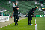 Tim Borowski (Co-Trainer SV Werder Bremen)<br /> Thomas Horsch (Co-Trainer SV Werder Bremen)<br /> mit CORONA Gesichtsmaske<br /> <br /> Sport: Fussball: 1. Bundesliga: Saison 19/20: <br /> 26. Spieltag: SV Werder Bremen vs Bayer 04 Leverkusen, 18.05.2020<br /> <br /> Foto ©  gumzmedia / Nordphoto / Andreas Gumz / POOL <br /> <br /> Nur für journalistische Zwecke! Only for editorial use!<br />  DFL regulations prohibit any use of photographs as image sequences and/or quasi-video.
