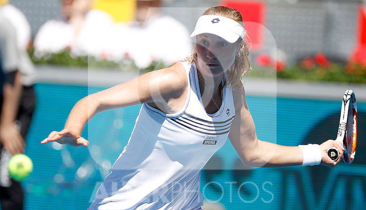Ekaterina Makarova during Madrid Open Tennis 2012 Match.May, 10, 2012(ALTERPHOTOS/ALFAQUI/Acero)