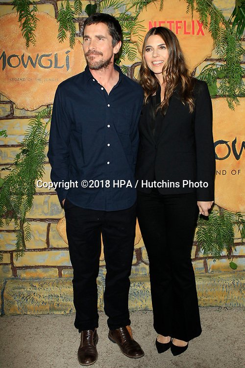 """LOS ANGELES - NOV 28:  Christian Bale, Sibi Blazic at the """"Mowgli: Legend of the Jungle"""" Premiere at the ArcLight Theater on November 28, 2018 in Los Angeles, CA"""