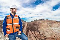 mining in open pit mine.<br /> minero en mina de cielo abierto.<br /> NoUsoEditorial