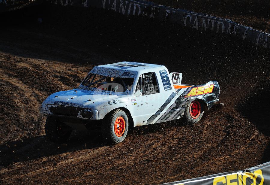 Dec. 10, 2011; Chandler, AZ, USA;  LOORRS pro lite unlimited driver Corey Sisler during round 15 at Firebird International Raceway. Mandatory Credit: Mark J. Rebilas-