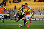 Wellington Phoenix&rsquo; Andrija Kaluderovic in action during the A League - Wellington Phoenix v Brisbane Roar FC at Westpac Stadium, Wellington, New Zealand on Sunday 25 March 2018.<br /> Photo by Masanori Udagawa. <br /> www.photowellington.photoshelter.com