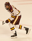 Dominic Toninato (UMD - 19) - The University of Minnesota Duluth Bulldogs defeated the Harvard University Crimson 2-1 in their Frozen Four semi-final on April 6, 2017, at the United Center in Chicago, Illinois.