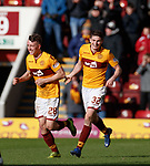 17.02.2019: Motherwell v Hearts: David Turnbull celebrates with Jake Hastie