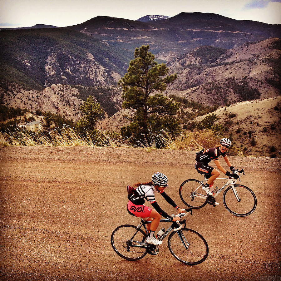 Cyclists enjoy the ascent of Oh-My-God Road, also known as Virginia Canyon Road, which climbs from Idaho Springs, Colorado, to the small casino towns of Black Hawk and Central City.