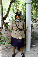 Policewoman in Nauru in the South Pacific