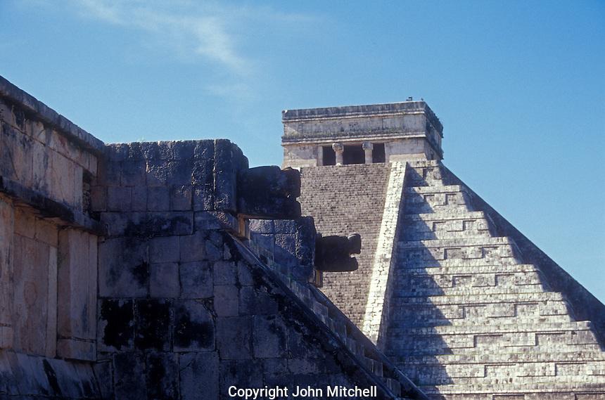 Venus Platform and El Castillo or Pyramid of Kukulcan, Chichen Itza, Yucatan, Mexico