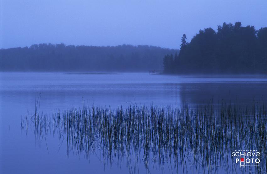Blue fog lake in northern Wisconsin.
