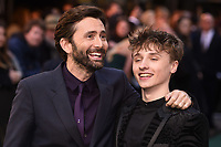"LONDON, UK. April 29, 2019: David Tennant & son, Ty Tennant arriving for the ""TOLKIEN"" premiere at the Curzon Mayfair, London.<br /> Picture: Steve Vas/Featureflash"
