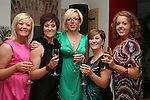 Karen Mullen, Catherine Baker, Michelle Egan, Yvonne McGrane and Heather Strickland as Mumstown Operation Transformation Team Toast their Success in Romanza, Dyer Street...Photo NEWSFILE/Jenny Matthews.(Photo credit should read Jenny Matthews/NEWSFILE)....This Picture has been sent you under the condtions enclosed by:.Newsfile Ltd..The Studio,.Millmount Abbey,.Drogheda,.Co Meath..Ireland..Tel: +353(0)41-9871240.Fax: +353(0)41-9871260.GSM: +353(0)86-2500958.email: pictures@newsfile.ie.www.newsfile.ie.FTP: 193.120.102.198.