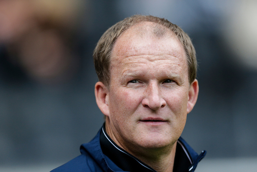 Preston North End manager Simon Grayson before kick off<br /> <br /> Photographer Craig Mercer/CameraSport<br /> <br /> Football - The Football League Sky Bet Championship - Milton Keynes Dons v Preston North End - Saturday 15th August 2015 - Stadium:mk - Milton Keynes<br /> <br /> &copy; CameraSport - 43 Linden Ave. Countesthorpe. Leicester. England. LE8 5PG - Tel: +44 (0) 116 277 4147 - admin@camerasport.com - www.camerasport.com