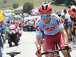 Ruben Guerreiro (POR) Katusha Alpecin part of the breakaway during Stage 15 of La Vuelta 2019  running 154.4km from Tineo to Santuario del Acebo, Spain. 8th September 2019.<br /> Picture: Karlis | Cyclefile<br /> <br /> All photos usage must carry mandatory copyright credit (© Cyclefile | Karlis/Photogomezsport)