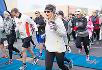 NWA Democrat-Gazette/CHARLIE KAIJO Runners race during the The 42nd annual Hogeye Marathon, Saturday, April 14, 2018 in Downtown Springdale.