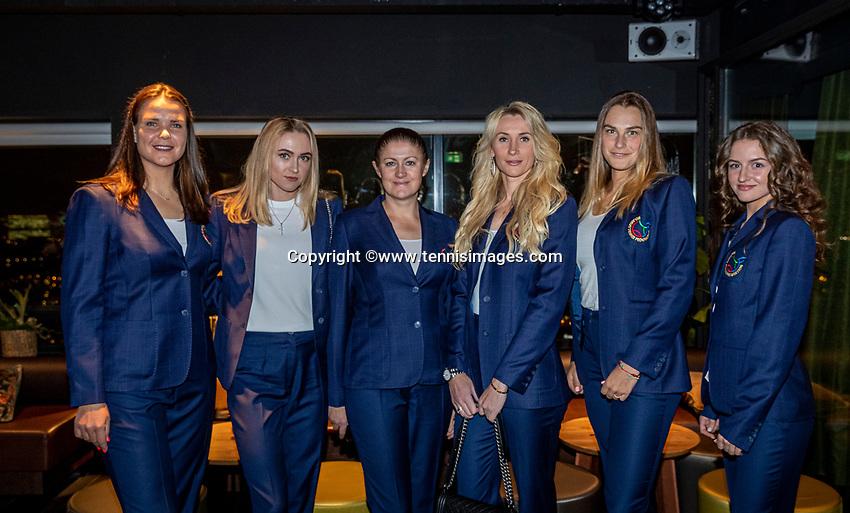 The Hague, The Netherlands, Februari 5, 2020,    Penthouse, FedCup  Netherlands -  Balarus, Official Dinner,  Team Belarus<br /> Photo: Tennisimages/Henk Koster