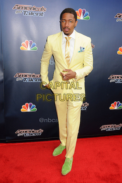 22 April 2014 - Hollywood, California - Nick Cannon. NBC's &quot;America's Got Talent&quot; Red Carpet Event held at the Dolby Theatre. <br /> CAP/ADM/BP<br /> &copy;Byron Purvis/AdMedia/Capital Pictures