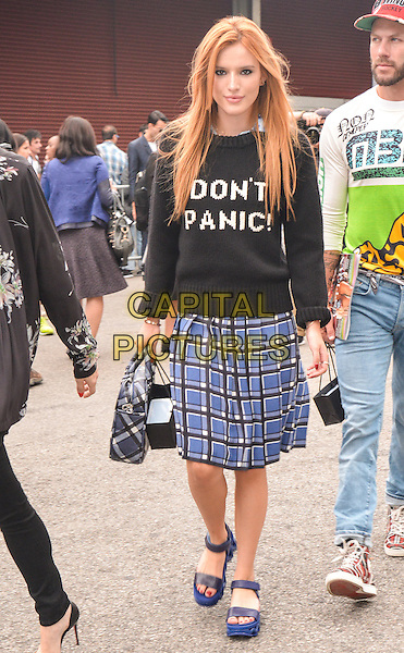 NEW YORK, NY - SEPTEMBER 9: Bella Thorne seen at Marc by Marc Jacobs fashion show in New York City, New York on September 9, 2014. Photo Credit: mpi67 / MediaPunch