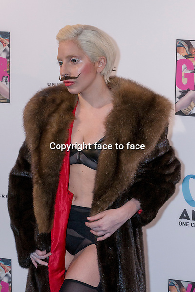 Lady Gaga at the prelistening fan event of her new Album 'Artpop' at Halle Berghain, 24.10.2013, Berlin.<br />