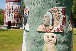 Detail of Spanish-American War veteran Ed Galloway totems built in the 1930s and 1940s at the Totem Pole Park near Route 66, Foyil, Okla.