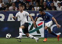 International friendly football match France vs Italy, Allianz Riviera, Nice, France, June 1, 2018. <br /> France's Lucas Hernandez (l) in action with Italy's Danilo D'ambrosio (r) during the international friendly football match between France and Italy at the Allianz Riviera in Nice on June 1, 2018.<br /> UPDATE IMAGES PRESS/Isabella Bonotto