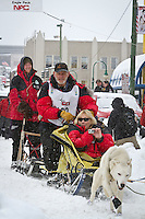 Dan Seavey leaves the 2011 Iditarod ceremonial start line in downtown Anchorage, during the 2012 Iditarod..Jim R. Kohl/Iditarodphotos.com