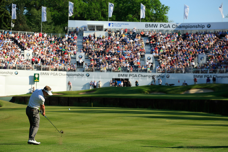Luke Donald (ENG) in action during the third round of the BMW PGA Championship played on the West Course, Wentworth Club, Virginia Water, Surrey, England 24 - 27 May 2012. (Picture Credit / Phil Inglis)