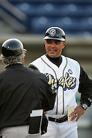 April 14, 2010: Keith Johnson, manager of the Rancho Cucamonga Quakes, before game against the Modesto Nuts at The Epicenter in Rancho Cucamonga,CA.  Photo by Larry Goren/Four Seam Images