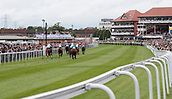June 10th 2017, Chester Racecourse, Cheshire, England; Chester Races Horse racing; Horses race into the final furlong for the first race of the day
